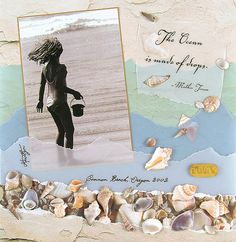 scrapbook layout for the beach | scrapbooking layouts, scrapbooking ideas, beach