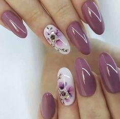 Metallic Nails, Elegant Nails, Spring Nails, Nails Inspiration, Hair And Nails, Nail Colors, Nail Art Designs, Nailart, Nail Polish