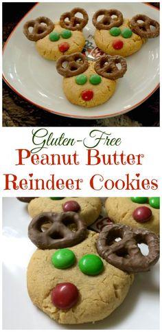 Gluten-Free Peanut Butter Reindeer Cookies | Gluten Free Christmas Cookies | Gluten Free Christmas Treats || Gluten Free Frenzy