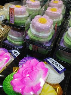 Osonaemono (Sweets for offerings) - Supermarket of the Bon Festival period …  Nagano, Japan
