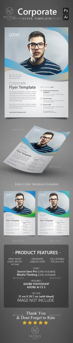 Corporate Flyer Template PSD, Vector AI #design Download: http://graphicriver.net/item/corporate-flyer-template-set-7/14278384?ref=ksioks
