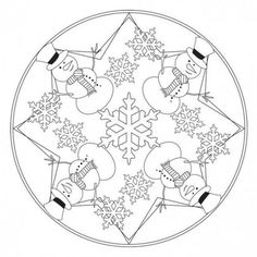 Winter Mandalas for Kids and Family. Mandalas are diagrams or symbolic representations used in Buddhism, Hinduism and other spiritual traditions. Winter Crafts For Kids, Winter Kids, Mandala Coloring Pages, Coloring Pages For Kids, Mandala Winter, Christmas Activities, Christmas Crafts, Mandalas For Kids, Puppet Crafts