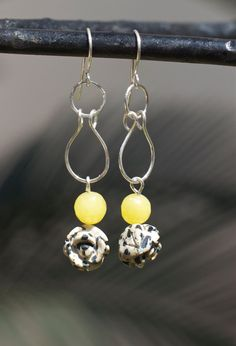 Natural stone jewelry Dalmatian jasper and by FlowerOfParadise