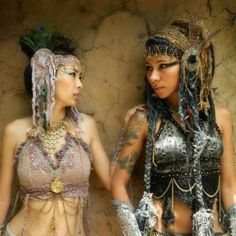 Jungle Gypsy Fashion - http://www.yourfantasycostume.com/costumes/jungle-gypsy-clothing-tribal-amazing-hand-made-fairy-wear