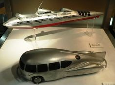 Art Deco transportation models. always seems like the precurser to the buck rodgers style architecture.