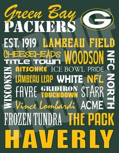 Green Bay Packers Metal Subway Art Sign by JessPoutreDesigns Greenbay Packers, Packers Baby, Go Packers, Green Bay Packers Fans, Packers Football, Best Football Team, Football Season, Bears Packers, Football Fever