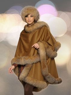 Rainwear & capes with fur