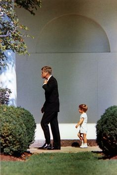 A son fellow's in his father's footsteps. Those Kennedy's.