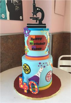 Science themed cake done by @thecakemamas, located in glendora