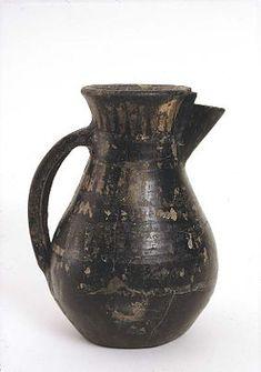 Frisian jug ware from female Birka grave 854, Uppland, Sweden. Exhibited at Historiska museet, Stockholm.