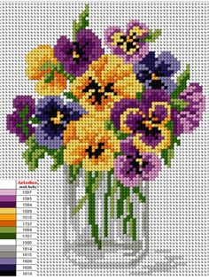 This Pin was discovered by Mar Cross Stitching, Cross Stitch Embroidery, Embroidery Patterns, Hand Embroidery, Cross Stitch Rose, Cross Stitch Flowers, Cross Stitch Designs, Cross Stitch Patterns, Cross Stitch Pictures