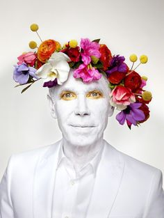 Martin Schoeller, 'Jeff Koons with Floral Headpiece; New York, NY,' 2013, Hasted Kraeutler