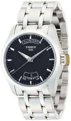Tissot Couturier Automatic Mens Watch T035.407.11.051.00 Tissot. $525.00. Brushed with Polished Stainless Steel band. 39mm case dimension. Automatic Self Winding movement. Black dial. Brushed with Polished Stainless Steel case. Save 30% Off!