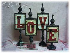 Love Wood Blocks