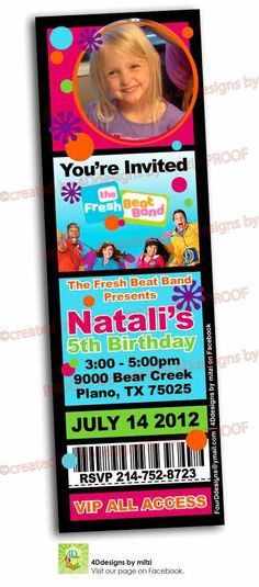 Complimentary Fresh Beat Band Coloring Pages Nick jr, Birthdays - fresh birthday invitation from a kid