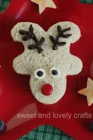 upside down gingerbread man reindeer sandwich