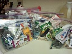 Blessed Bags for the Homeless.  Do with the kids so they learn the importance of caring for others.
