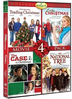 Love these Hallmark Christmas movie collector's sets. This one includes Trading Christmas, Lucky Christmas, The Case For Christmas and the National Tree. #hallmark #xmas #christmasmovies