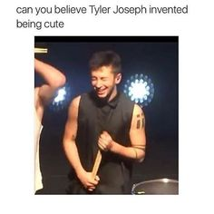 And Josh Dun invented being cute and beautiful at the same time