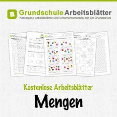 Kostenlose Arbeitsblätter und Unterrichtsmaterial zum Thema Mengen im Mathe-Unterricht in der Grundschule.