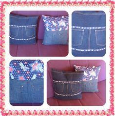 Kissen aus alten Jeanshosen
