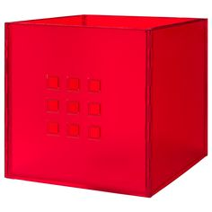 """LEKMAN Box, red $15.00  Article Number :701.384.00 This box is suitable for storing everything from newspapers and magazines to your clothes. Product dimensions Width: 13 """" Depth: 14 ½ """" Height: 13 """""""