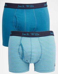Unterhose von Jack Wills elastischer Jersey Logoschriftzug am Bund Logostickerei figurbetontes Design Maschinenwäsche 92% Baumwolle, 8% Elastan Zweierset