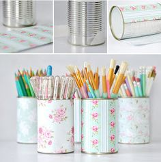 Tin Cans Crafts Ideas.