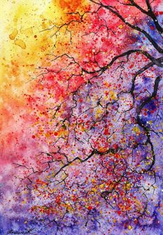 This is a colorful price of art that is buitiful and shows me a lot of affection the the tree so its is the best art I have seen