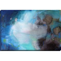 Add an artful touch to the living room or guest suite with this lovely canvas print, featuring an abstract oil painting motif. Produc...
