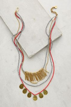 masambu layered necklace - anthropologie