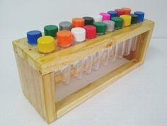 Porta temperos-20 tubos-tampas coloridas