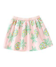 Look at this #zulilyfind! Sunwashed Pink Pineapple Skirt - Girls #zulilyfinds
