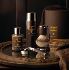 Annabelle Breakey commercial editorial food still life and product photographer Acqua Di Parma Shaving Set The Art Of Shaving, Shaving Set, Men Shaving, Parma, Male Grooming, Beard Care, Barber Shop, Decorative Accessories, Bathroom Accessories