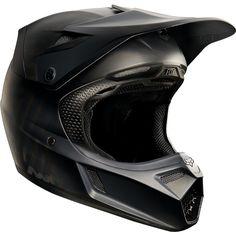 41d98d7e5 Fox Racing V3 MATTE BLACK HELMET - Motocross - FoxRacing.com Motocross  Helmets, Fox