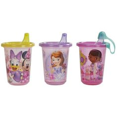 Disney Baby Toddler Girl's 3-Pack Sippy Cups - Baby - Baby Feeding -... ($7.19) ❤ liked on Polyvore featuring baby
