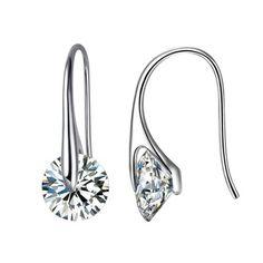 Crystal Eclipse Earrings, Swarovski elements 12 mm crystals