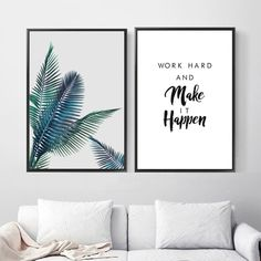 Wall Art Canvas Painting Green Plant Landscape Work Quotes Posters And Prints Nordic Poster Wall Pictures For Living Room Decor