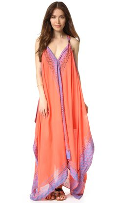 Free People Merida Printed Maxi Dress - Pink Combo | SHOPBOP.COM saved by #ShoppingIS