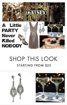 """Great Gatsby"" by ladysuzie ❤ liked on Polyvore featuring Gatsby, CABARET, CO and Prada"