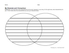 Venn Diagram Book Report Project: templates, printable worksheets ...