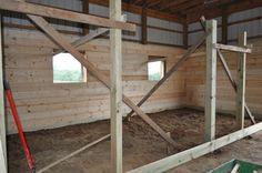 Building Custom Stalls #horses #barn