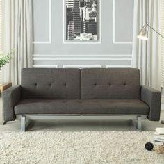 Woodbridge Home Designs Crispin Sleeper Sofa in Gray & Reviews   Wayfair