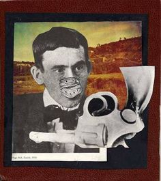 """Hugo Ball (1886-1927)  was a German author, poet & a leading Dada artists. In 1916, he created the Dada Manifesto, making a political statement about his views on the terrible state of society & his dislike for philosophies claiming to possess the ultimate Truth. The same year hel wrote his poem """"Karawane,"""" consisting of nonsensical words. As co-founder of the Cabaret Voltaire in Zürich, he led the Dada movement in Zürich, and is one of the people credited with naming the movement """"Dada""""."""