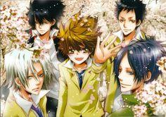 Gokudera,Hibari,Tsuna, Mukuro et Yamamoto