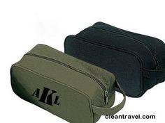 Men's Personalized Toiletry / Travel Kit Bags - http://oleantravel.com/mens-personalized-toiletry-travel-kit-bags