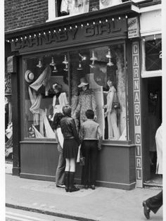 Clothes Photographic Print: Poster of Carnaby Street Boutique : - size: Photographic Print: Poster of Carnaby Street Boutique : Entertainment Vintage London, Old London, Vintage Shops, Vintage Stuff, Girls Boutique, A Boutique, 1960s Fashion, Vintage Fashion, Vintage Mannequin