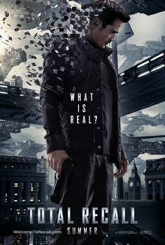 Colin Farrell stars in the new 'Total Recall' film from Len Wiseman.  Here's the poster!
