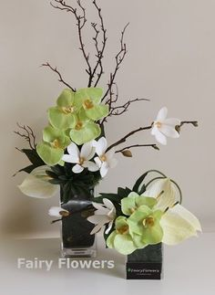 Wedding Flower Arrangements Table Flower Arrangements - Fairy Flowers - The Wedding Flowers Specilaist Arrangements Ikebana, Table Flower Arrangements, Artificial Flower Arrangements, Table Flowers, Floral Centerpieces, Artificial Flowers, Wedding Centerpieces, Design Floral, Deco Floral