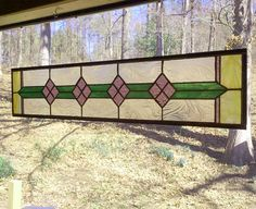 Stained Glass Panel  Victorian in Nature by BeadedGlass on Etsy, $138.00